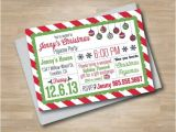 Christmas Slumber Party Invitations Items Similar to Pajama Party Christmas Invitation