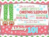 Christmas Slumber Party Invitations Pin by Helena Spak On K 39 S Bday Pinterest