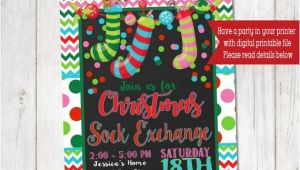 Christmas sock Exchange Party Invitation Christmas sock Exchange Party Invitation Kids Christmas