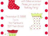 Christmas sock Exchange Party Invitation Christmas Stockings Party Invitations