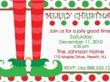 Christmas sock Exchange Party Invitation Items Similar to Elf Christmas Party Invitation