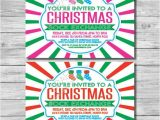 Christmas sock Exchange Party Invitation Items Similar to Printable Christmas sock Exchange