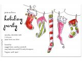 Christmas sock Exchange Party Invitation Quick View Z1 3391 Quot Jolly socks Quot