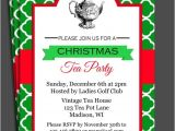 Christmas Tea Party Invitation Wording Christmas Tea Party Invitation Printable Christmas