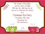 Christmas Tea Party Invitation Wording Christmas Tea Party Invitations 2017