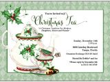 Christmas Tea Party Invitation Wording Holiday Tea Invitation Christmas Tea by Adorableinvitations