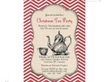 Christmas Tea Party Invitations Free Items Similar to Printable Christmas Tea Party Invitation