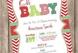 Christmas themed Baby Shower Invitations Christmas themed Baby Shower