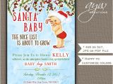 Christmas themed Baby Shower Invitations Santa Baby Shower Invitation Boy Christmas Baby Shower