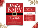 Christmas themed Baby Shower Invitations Winter Baby Shower Invitations Santa Baby Baby Shower