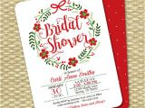 Christmas themed Bridal Shower Invitations Christmas Bridal Shower Invitation Holiday Bridal Shower