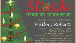 Christmas themed Bridal Shower Invitations Christmas Bridal Shower Invitation Stock the Tree with
