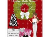 Christmas themed Bridal Shower Invitations Christmas Bride Brunette Bridal Shower Invitations