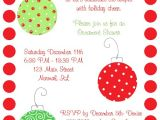 Christmas themed Bridal Shower Invitations Christmas ornaments Bridal Shower Invitations