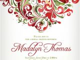 Christmas themed Wedding Shower Invitations Bridal Shower Dinner Party Christmas Holiday themed