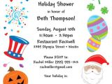 Christmas themed Wedding Shower Invitations Bridal Shower Holiday theme Invitation