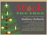 Christmas themed Wedding Shower Invitations Christmas Bridal Shower Invitation Stock the Tree with