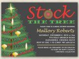 Christmas themed Wedding Shower Invitations Christmas Bridal Shower Invitation Stock the Tree with Xmas