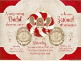 Christmas themed Wedding Shower Invitations Fairytale Christmas Bride Shower Invitation Sweet Santa
