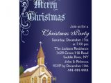 Church Christmas Party Invitation Blue White Church Christmas Party Invite 4 5 Quot X 6 25