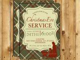 Church Christmas Party Invitation Christmas Eve Service Invitation Christmas Eve Invite Candle