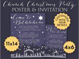 Church Christmas Party Invitation Items Similar to Lds Church Christmas Nativity Holiday