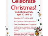 Church Christmas Party Invitation Youth Christmas Party Acts Church