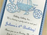Cinderella Carriage Bridal Shower Invitations Princess Invitations · Blue and Glitter