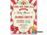 Circus themed Baby Shower Invitations Circus Baby Shower Invitation Printable Circus