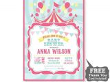 Circus themed Baby Shower Invitations Circus Baby Shower Invitation Printable From 800canvas