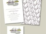 Cityscape Wedding Invitations Cityscape New York Wedding Invitation
