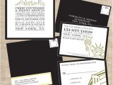 Cityscape Wedding Invitations Cityscape Skyline Nyc New York City themed Wedding Suite