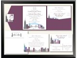 Cityscape Wedding Invitations Cityscape Wedding Invitations Love In the City City
