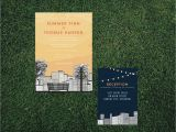 Cityscape Wedding Invitations Skyline Cityscape Wedding Invitation Printed Set Diy