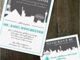 Cityscape Wedding Invitations Vegas Wedding Invitation Modern Cityscape Destination
