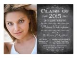 Class Of 2015 Graduation Invitations Class Of 2015 Chalkboard Photo Graduation Party 5×7 Paper