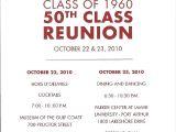 Class Party Invitation Template 50th Class Reunion Invitations