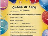 Class Party Invitation Template Reunion Party Invitations Class Reunion Ideas and Class