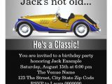 Classic Car Party Invitations Mans Classic Car Birthday Party Invitation Zazzle