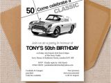 Classic Car Party Invitations Stylish Classic Car 50th Birthday Party Invitation From 1