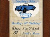 Classic Car Party Invitations Vintage Car Birthday Invitation Everything 39 S Better