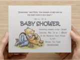 Classic Winnie the Pooh Baby Shower Invites Classic Winnie the Pooh Baby Shower Invitation Print Your
