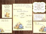 Classic Winnie the Pooh Baby Shower Invites Printable Winnie the Pooh Baby Shower Story Book Baby Shower
