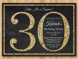 Classy 30th Birthday Invitation Wording 30th Birthday Invitation Gold Glitter Birthday Party