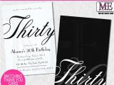 Classy 30th Birthday Invitation Wording Classy 30th Birthday Invitations by Metro Designs Graphic