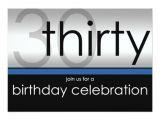 Classy 30th Birthday Invitation Wording Classy Modern 30th Birthday Invitations