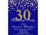 Classy 30th Birthday Invitations Elegant 30th Birthday Invitation Gold Confetti