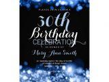Classy 30th Birthday Invitations Elegant 30th Birthday Party Blue Sparkling Lights 5×7