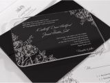Clear Plastic Wedding Invitations Acrylic Wedding Invitations Blossom Design