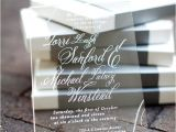 Clear Plastic Wedding Invitations Clear Acrylic Invitations